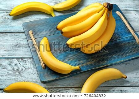 amarelo · bananas · maduro · branco · fruto · banana - foto stock © galitskaya