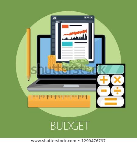Orçamento planejamento financeiro analista lista clipboard Foto stock © RAStudio