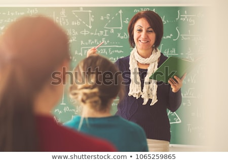 school gives knowledge lesson teacher and pupils stock photo © robuart