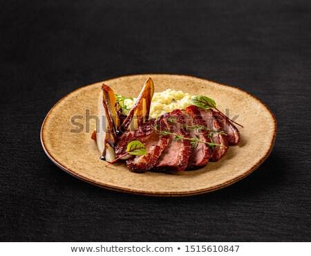 grelhado · pato · peito · pássaro · jantar · almoço - foto stock © grafvision
