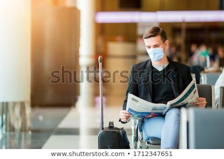 空港 待合室 乗客 平面 スーツケース ストックフォト © robuart