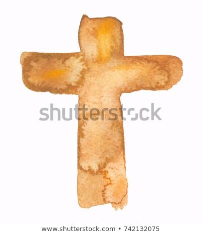 Jesus crucifix couleur pour aquarelle main tirer illustration Photo stock © doomko