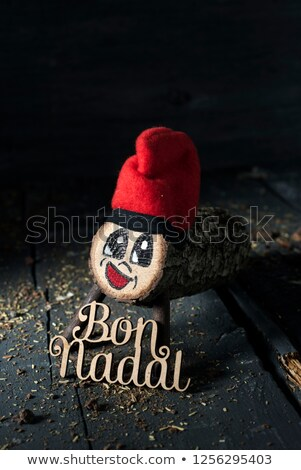 tio de nadal and text merry christmas in catalan Stock photo © nito