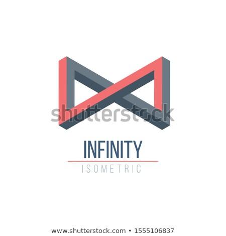 Infinity logo 3D geometric symbol, optical illusion shape , overlapping elements. Stock Vector illus Stock photo © kyryloff