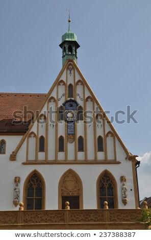 ストックフォト: 町役場 · ドイツ · ゴシック · 市場 · 広場 · 建物