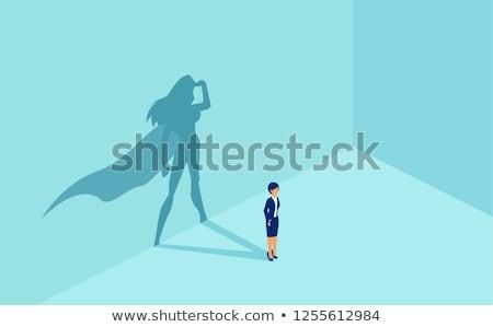 Affaires employé vecteur gestionnaire battant Photo stock © robuart
