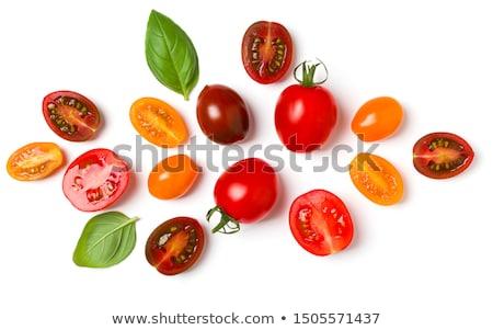 Cherry Tomatoes Composition Isolated On White Background Stock photo © Bozena_Fulawka