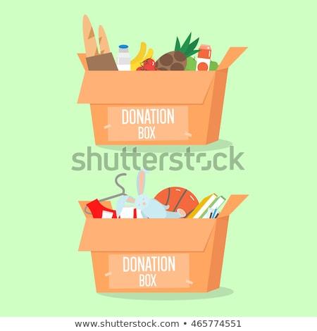 寄付 男性 女性 手 お金 ストックフォト © vectorikart