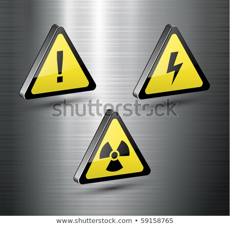 symbol biohazard on button. 3D illustration Stock photo © ISerg