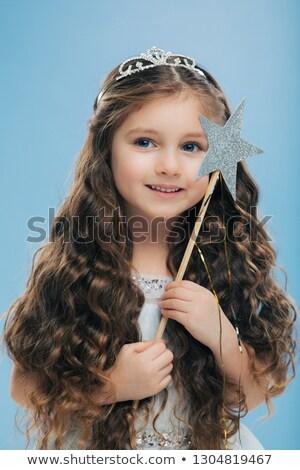 Imagem atraente pequeno criança cabelo escuro Foto stock © vkstudio
