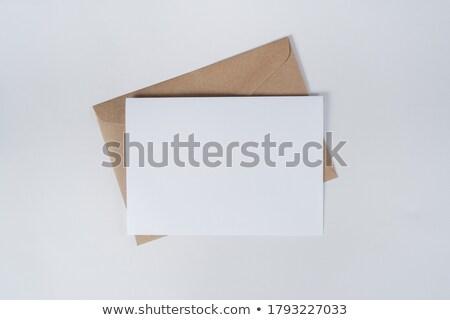 грубая оберточная бумага конверт бизнеса изолированный почты Финансы Сток-фото © posterize