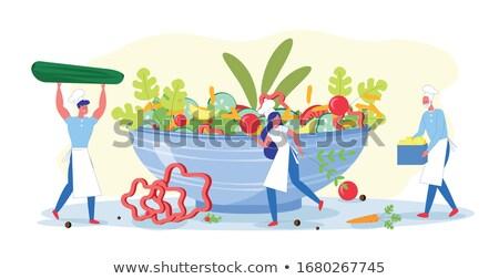 Karfiol piros paprikák paradicsomok vásár piac Stock fotó © elxeneize