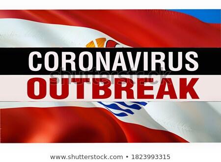 Bacteria of Coronavirus on the background of French flag. Stock photo © artjazz