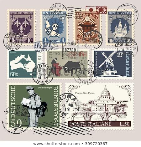 internationale · postzegels · 2011 · collectie · bos · textuur - stockfoto © cienpies