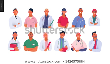 Medical Insurance Doctor in Laboratory Vector Stock photo © robuart