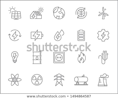 thermal solar stations icon vector outline illustration Stock photo © pikepicture