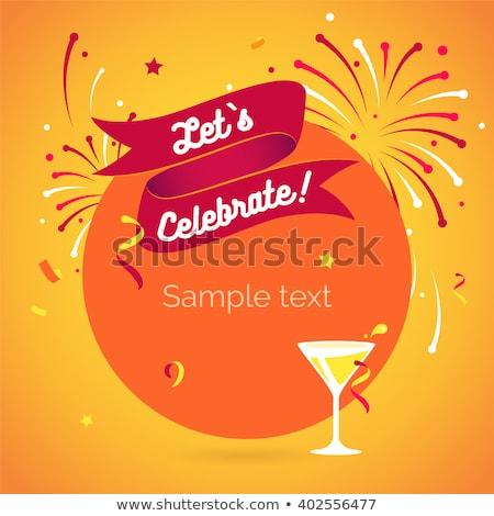 Carte postale invitation célébrer fête vecteur coeur Photo stock © pikepicture