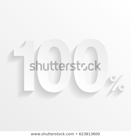 Honderd procent icon vector schets illustratie Stockfoto © pikepicture