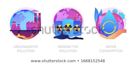 Ressource consommation vecteur métaphores eco problèmes Photo stock © RAStudio