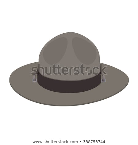 Parque seis chapéu de palha branco Foto stock © JamiRae