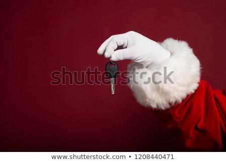 Stok fotoğraf: Eller · kırmızı · oyuncak · iş · kadın