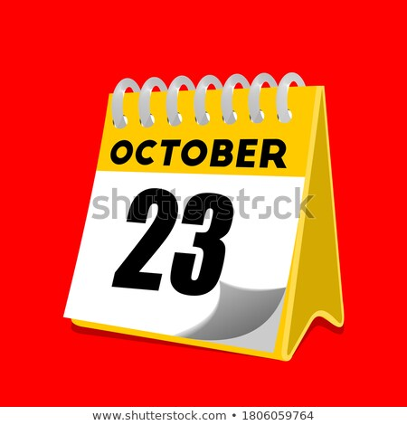 Simple black calendar icon with 23 october date isolated on white Stock photo © evgeny89