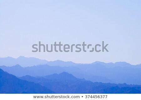Mglisty szeroki góry jasnoniebieski rano krajobraz Zdjęcia stock © evgeny89