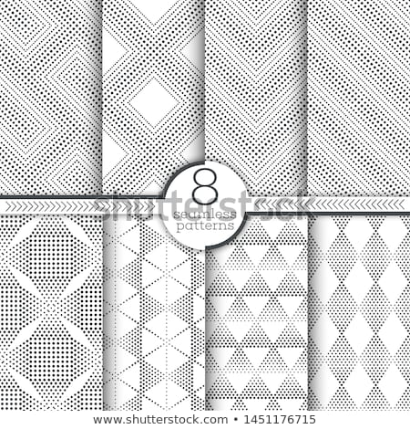 Repeating Rectangle Shape Halftone. Modern Lattice Texture. Vector Seamless Monochrome Pattern Stock photo © samolevsky
