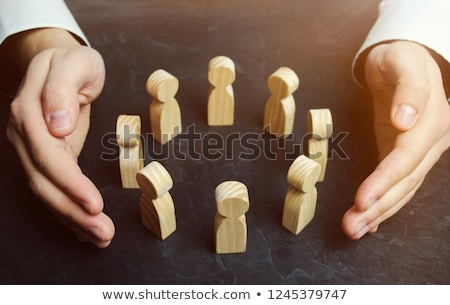 Boss Protecting Business Employees Stock photo © AndreyPopov