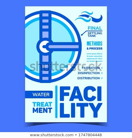 Víz kezelés létesítmény kreatív szalag vektor Stock fotó © pikepicture