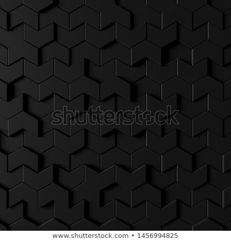 Black Rectangles 3D Pattern Background Stock photo © make