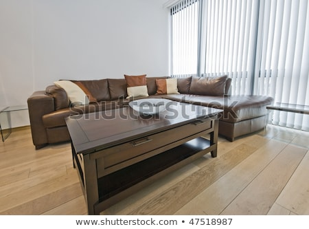 Contemporary coffee table corner detail Stock photo © cienpies