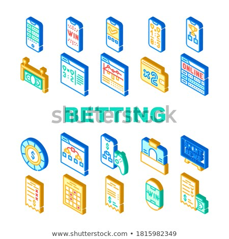Betting Office Gambling isometric icon vector illustration Stock photo © pikepicture