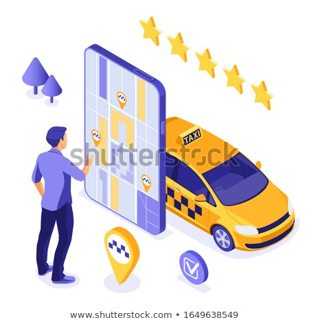 Taxi Service Rating Online isometric icon vector illustration Stock photo © pikepicture