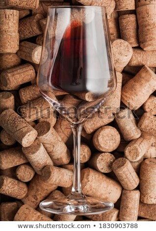Fles rode wijn vintage top Stockfoto © DenisMArt