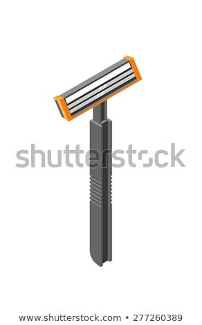 Man Shaving With Razor isometric icon vector illustration Stock photo © pikepicture