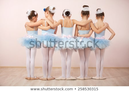 Сток-фото: Ballerina Little Ballet Children Dancer Dancing On White