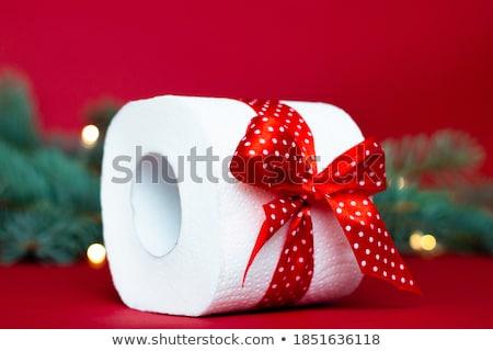 катиться зеленый туалетная бумага домой фон чистой Сток-фото © RuslanOmega
