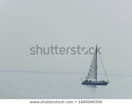 vitorla · csónak · tenger · part · égbolt · tájkép - stock fotó © Harveysart