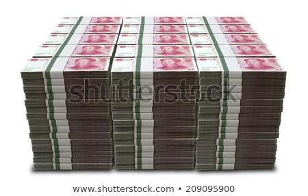 Stock photo: wad of chinese yuan