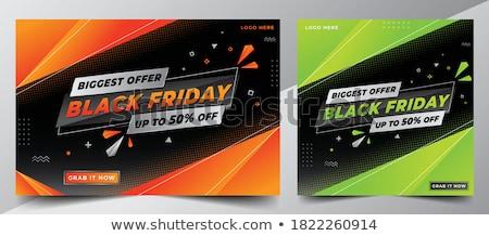 Green sale discount advertisement Stock photo © orson