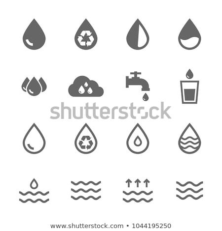 caída · ola · agua · iconos · naturaleza · mar - foto stock © Ecelop