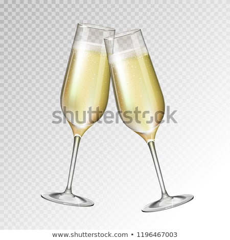 champagne · bril · twee · vol · fluiten · geïsoleerd - stockfoto © elenaphoto