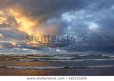 puesta · de · sol · nubes · de · tormenta · Canadá · rayo · cielo · nubes - foto stock © pictureguy