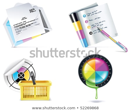 vector print shop icon set part 4 stock photo © tele52