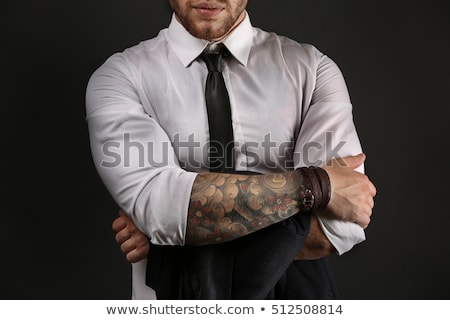 Stock photo: man with tattoos
