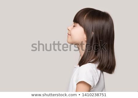 Klein kind geïsoleerd witte baby gezicht Stockfoto © 26kot