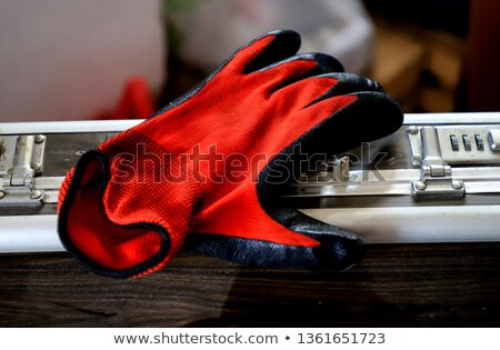 Man's a brief case and gloves Stock photo © cookelma