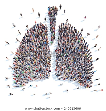Silhouette Of Person With Lungs  Stock photo © cammep
