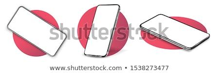 Genel cep telefonu yalıtılmış beyaz kare format Stok fotoğraf © ralanscott